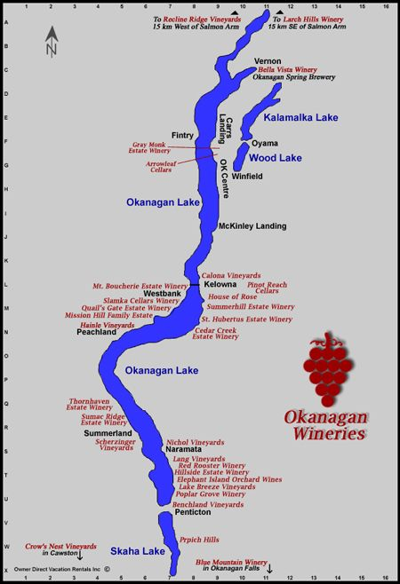 The Hopeless Romantic B&B - Wineries Map